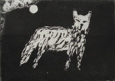 Wolf, Aquatinta, 8 x 11,5 cm, 2009