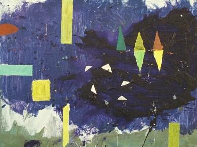 Am See mittags I, Öl auf kaschierter Hartfaser, 24 x 30 cm, 2008