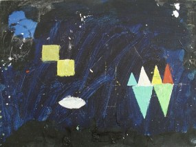 Am See mittags II, Öl auf kaschierter Hartfaser, 24 x 30 cm, 2008