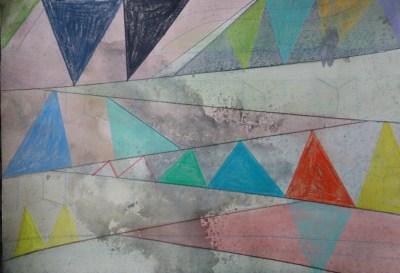 Letzin, Mischtechnik auf Papier, 21 x 29,7 cm, 2016