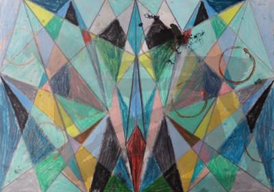 Gersdin, Mischtechnik auf Papier, 21 x 29,7 cm, 2016
