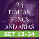 24 Italian Songs and Arias  (HALF SET 13-24)