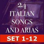 24 Italian Songs and Arias  (HALF SET 1-12)