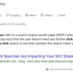 Zero click searches show the usefulness of search