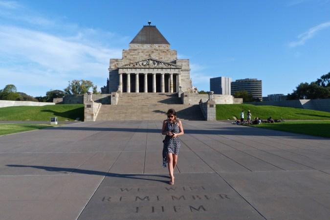 The Shrine of Remembrance, édifice en l'honneur des soldats australiens morts pendant les guerres du 20ème siècle
