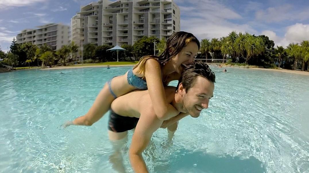 Baignade au Lagon de Mackay