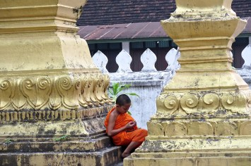 Moine novice au Wat Sene
