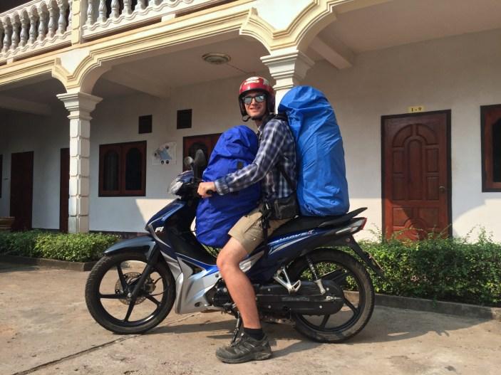 Transport des gros sacs chez le loueur