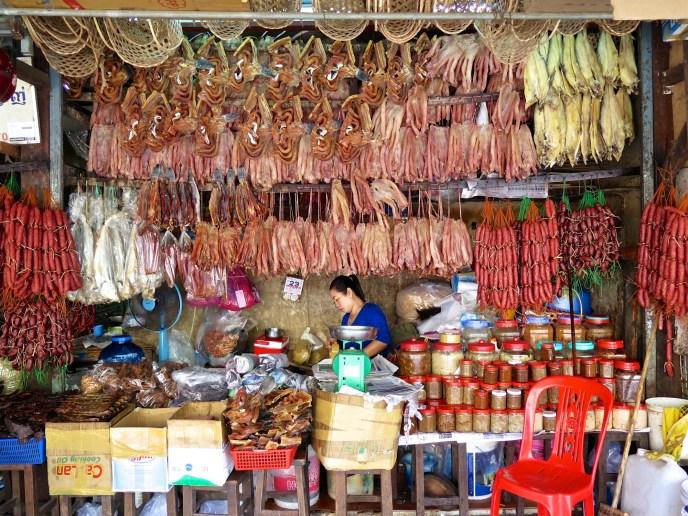 Boucherie et Charcuterie au Old Market de Siem Reap - Angkor cambodge blog voyage 6