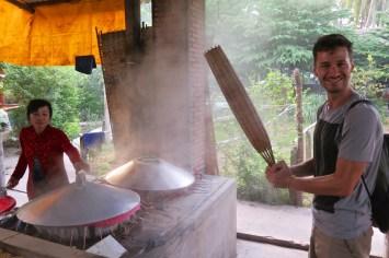 Fabrique nouilles Can Tho Delta Mekong Vietnam blog voyage 2016 11