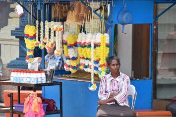 Vendeuse de fleurs Kuala Lumpur Malaisie blog voyage 2016 22