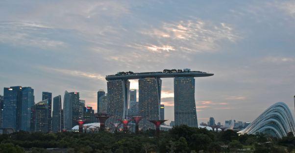 Sunset Skyline Singapour blog voyage 2016 7