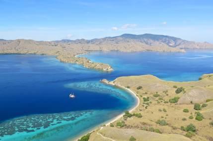 La passe entre Gili Lawadarat et l'île de Komodo