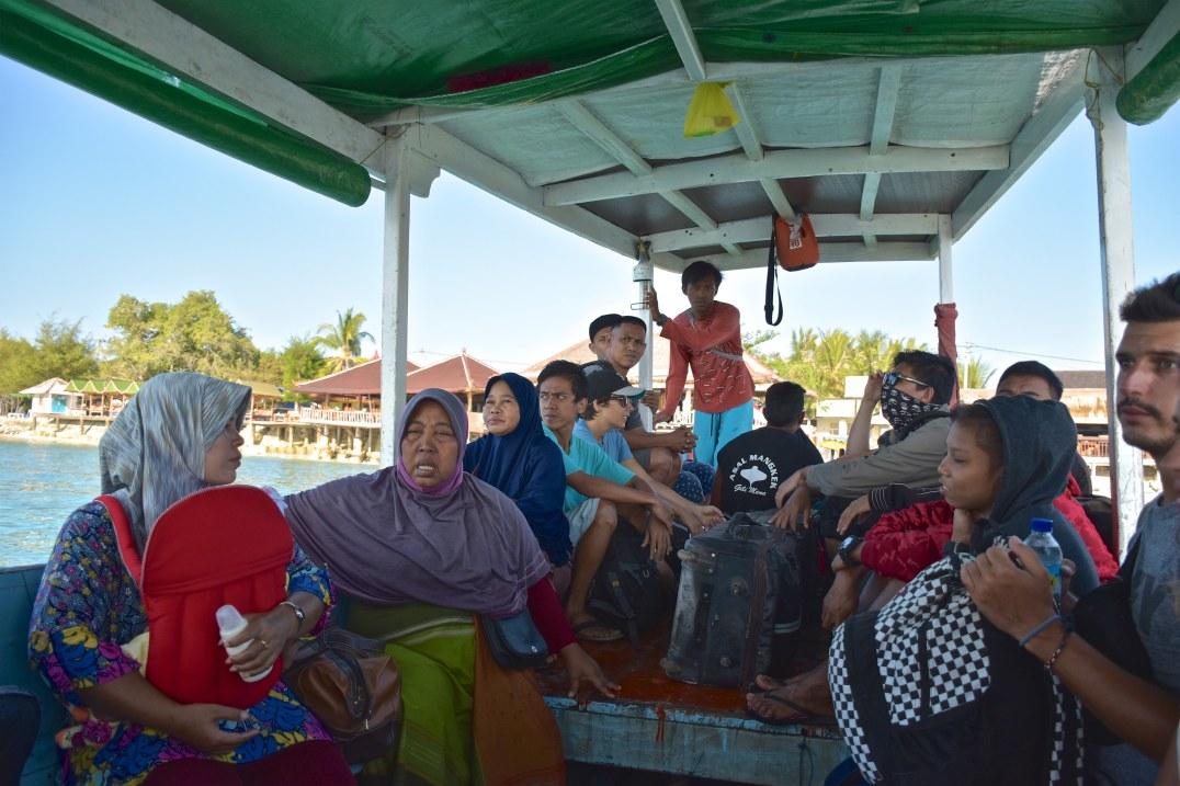 Bateau public, aux îles Gili