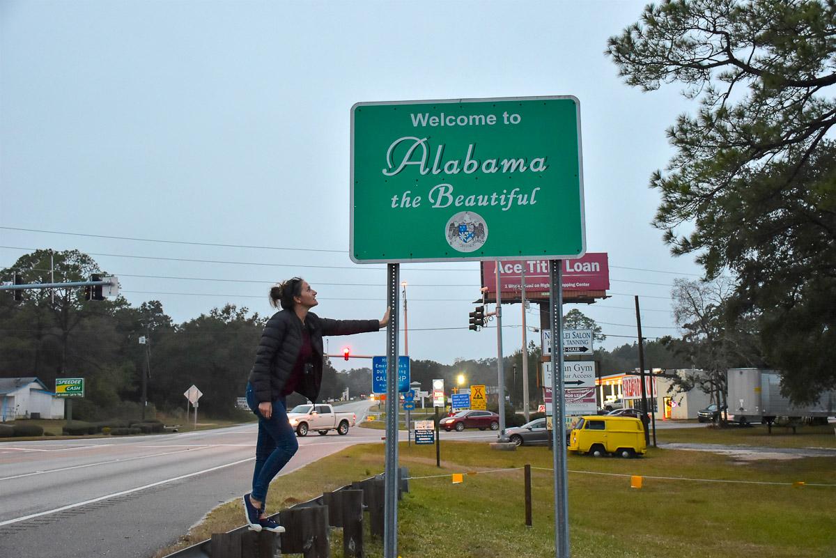 Alabama border frontiere road trip nord Floride blog voyage USA Floride 2019-28