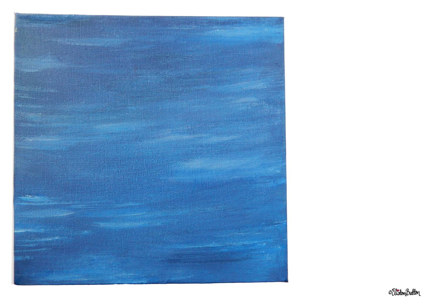 Calm Waters Painted Canvas by Eliston Button - About Me at www.elistonbutton.com - Eliston Button - That Crafty Kid – Art, Design, Craft & Adventure.