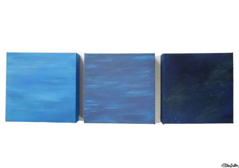 Sky and Water Painted Canvases by Eliston Button - About Me at www.elistonbutton.com - Eliston Button - That Crafty Kid – Art, Design, Craft & Adventure.
