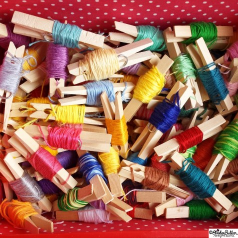 Day 05 - E is for..Embroidery Thread - Photo-a-Day October 2014 - Eliston Button A to Z of Craft at www.elistonbutton.com - Eliston Button - That Crafty Kid – Art, Design, Craft & Adventure.