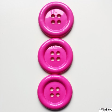 Day 29 - Three - Three Large Pink Shiny Buttons - Photo-a-Day October 2014 - Eliston Button A to Z of Craft at www.elistonbutton.com - Eliston Button - That Crafty Kid – Art, Design, Craft & Adventure.