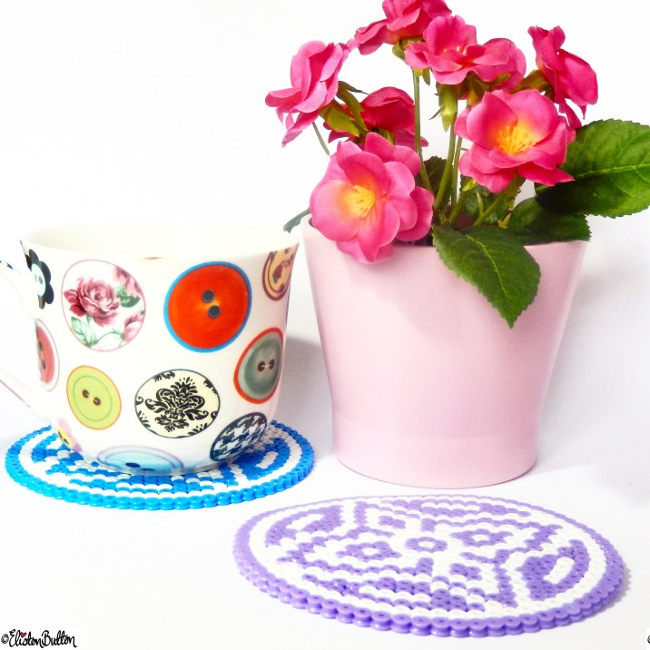 Picture Bead Coasters, Button Mug and Flowers - Around Here...April 2015 at www.elistonbutton.com - Eliston Button - That Crafty Kid – Art, Design, Craft & Adventure.