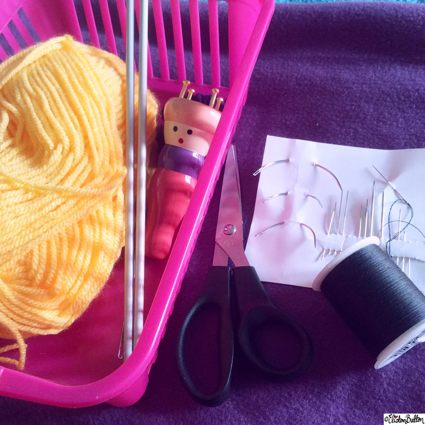 French Knitting and Sewing - Around Here...May 2015 at www.elistonbutton.com - Eliston Button - That Crafty Kid – Art, Design, Craft & Adventure.