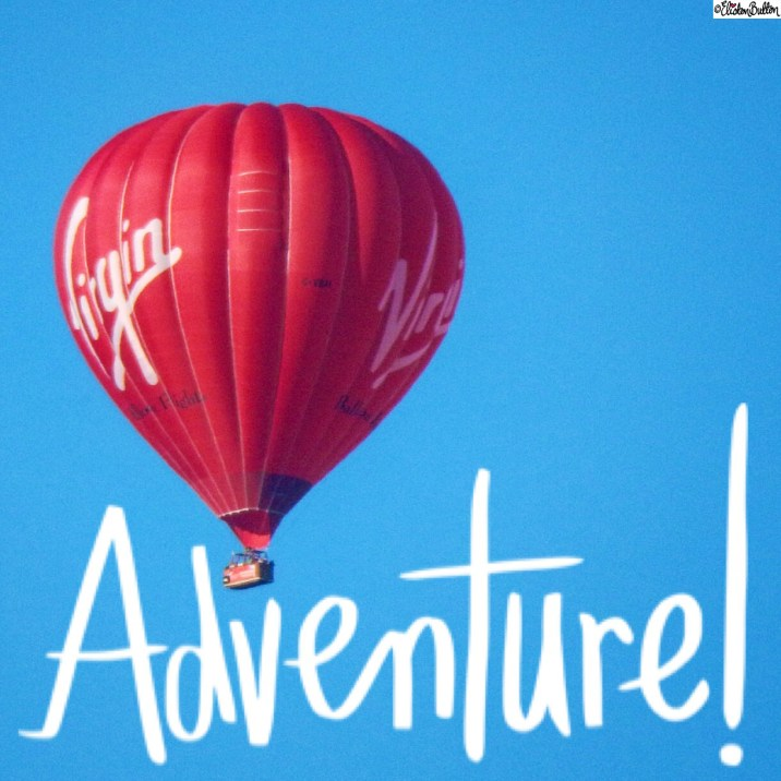 Virgin Hot Air Balloon Photograph with Adventure Word Art - Around Here…October 2015 at www.elistonbutton.com - Eliston Button - That Crafty Kid