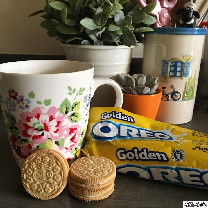 Golden Oreo Biscuits and Cath Kidston Mug - Around Here…October 2015 at www.elistonbutton.com - Eliston Button - That Crafty Kid