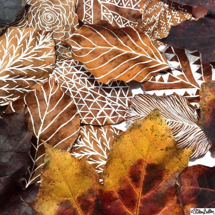 Autumn Leaf Art and Autumn Leaves - Around Here…November 2015 at www.elistonbutton.com - Eliston Button - That Crafty Kid