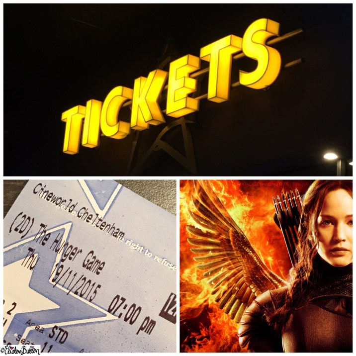 The Hunger Games Mockingjay Part 2 Ticket - Around Here…November 2015 at www.elistonbutton.com - Eliston Button - That Crafty Kid