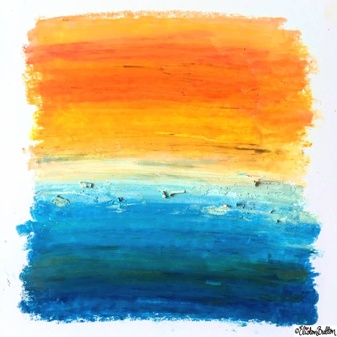 Day 12 - Abstract - Oil Pastel Sunset Wall Art - Photo-a-Day – March 2016 at www.elistonbutton.com - Eliston Button - That Crafty Kid – Art, Design, Craft & Adventure.