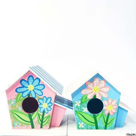 Day 06 - A Building - Pretty Little Painted Wooden Bird Houses - Photo-a-Day – April 2016 at www.elistonbutton.com - Eliston Button - That Crafty Kid – Art, Design, Craft & Adventure.
