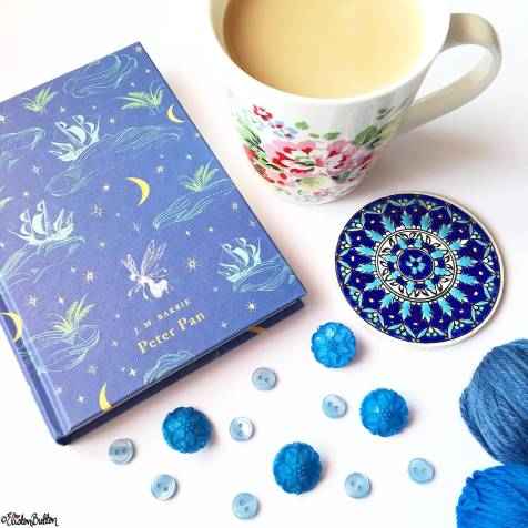 Day 03 - N is for... - Neverland. Peter Pan Book, Cup of Tea and Blue Buttons - Photo-a-Day – May 2016 at www.elistonbutton.com - Eliston Button - That Crafty Kid – Art, Design, Craft & Adventure.