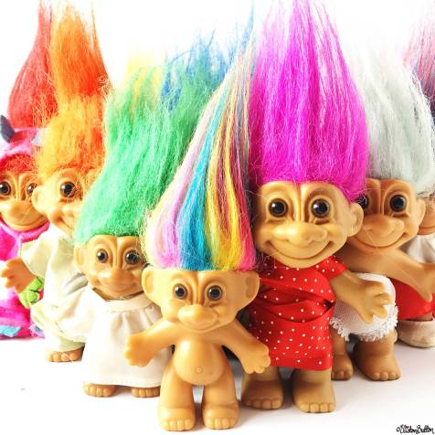 Day 30 - Hair - Troll Dolls - Photo-a-Day – May 2016 at www.elistonbutton.com - Eliston Button - That Crafty Kid – Art, Design, Craft & Adventure.