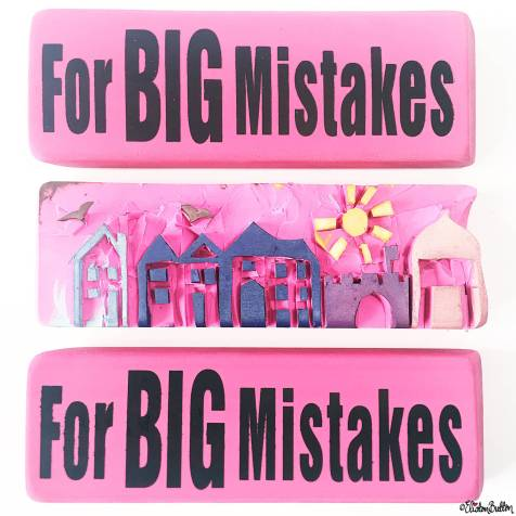 Day 06 - Mistake - Giant Eraser Rubbers and Hand Carved Street Stamp - Photo-a-Day – June 2016 at www.elistonbutton.com - Eliston Button - That Crafty Kid – Art, Design, Craft & Adventure.