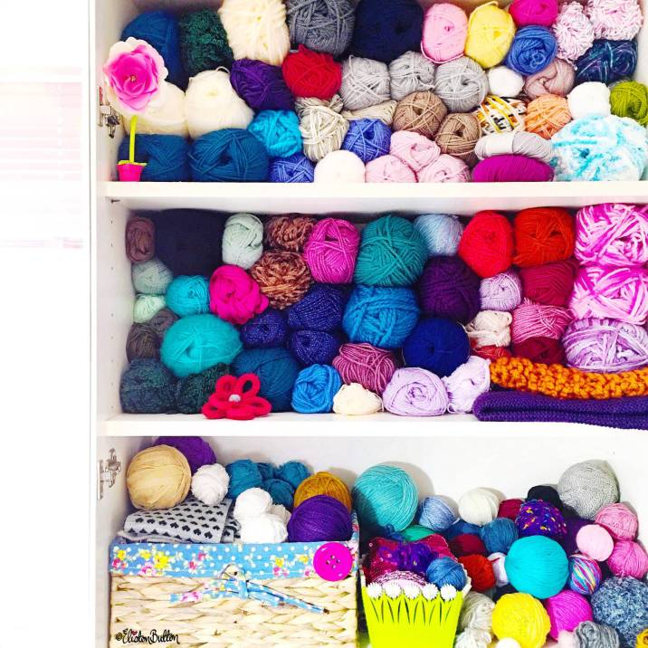 Day 25 - Y is For...Yarn - Craft Studio Yarn Storage - Photo-a-Day - July 2016 - Eliston Button A-Z of Craft at www.elistonbutton.com - Eliston Button - That Crafty Kid – Art, Design, Craft & Adventure.