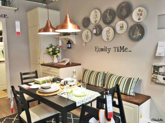 Family Time Dining Area Show Room at IKEA, Birmingham - The Patterns and Colours of IKEA at www.elistonbutton.com - Eliston Button - That Crafty Kid – Art, Design, Craft & Adventure.