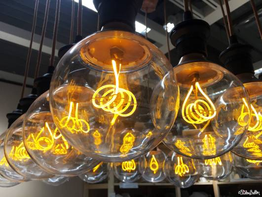 Gorgeous Edison Style Light Bulbs in IKEA, Birmingham - The Patterns and Colours of IKEA at www.elistonbutton.com - Eliston Button - That Crafty Kid – Art, Design, Craft & Adventure.