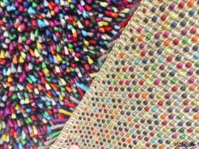 Multi Coloured Rug and Back Texture in IKEA - The Patterns and Colours of IKEA at www.elistonbutton.com - Eliston Button - That Crafty Kid – Art, Design, Craft & Adventure.