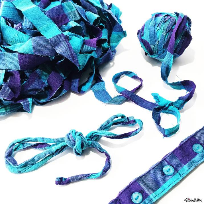 Purple and Turquoise Check Plaid Shirt Yarn - Around Here…August 2016 at www.elistonbutton.com - Eliston Button - That Crafty Kid – Art, Design, Craft & Adventure.