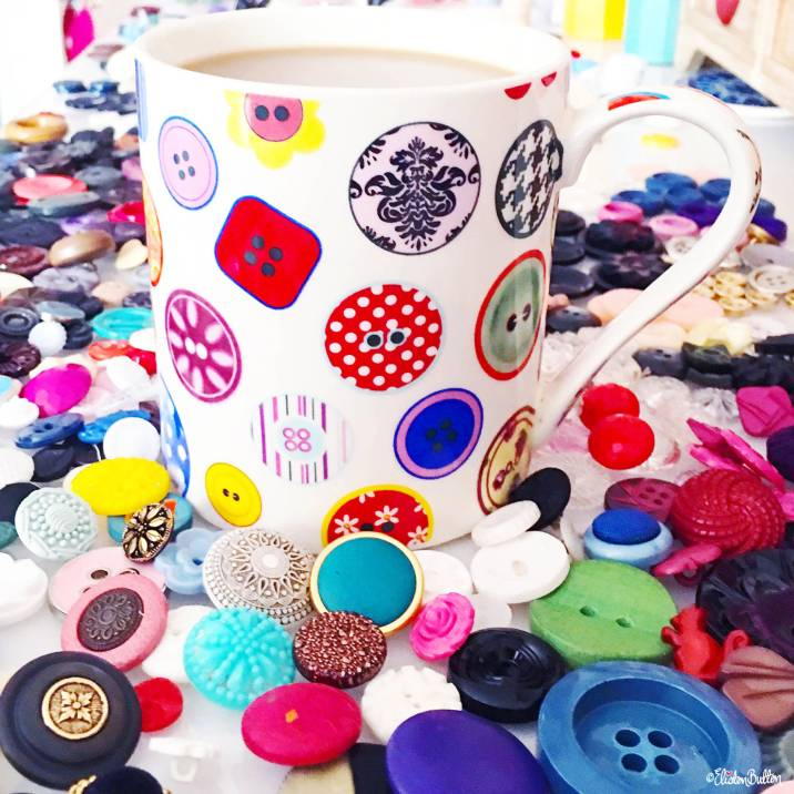Buttons and Button Mug of Coffee - Around Here…September 2016 at www.elistonbutton.com - Eliston Button - That Crafty Kid – Art, Design, Craft & Adventure.