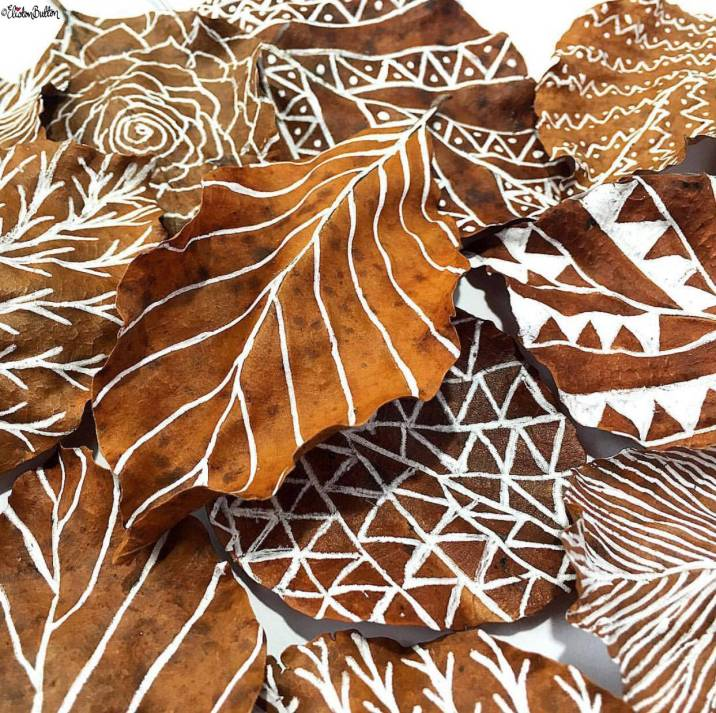 Day 27 - Leaf - Illustrated Autumn Leaves - Photo-a-Day – October 2016 at www.elistonbutton.com - Eliston Button - That Crafty Kid – Art, Design, Craft & Adventure.