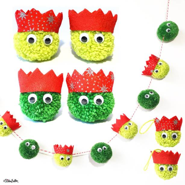 Christmas Sprout Individual Decorations, Pack of 4 Decorations and Garland by Eliston Button on Etsy - For the Love of...Winter at www.elistonbutton.com - Eliston Button - That Crafty Kid – Art, Design, Craft & Adventure.