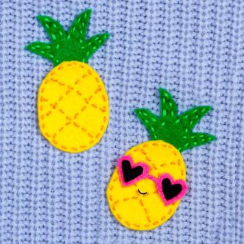 Felt Pineapple Brooch by Doodle and Stitch Blog - For the Love of…Summer at www.elistonbutton.com - Eliston Button - That Crafty Kid – Art, Design, Craft & Adventure.