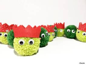 Create 30 - No. 9 - Christmas Sprout Pom Pom Decorations by Eliston Button - Create 30 – I Did It! (And Future Plans) at www.elistonbutton.com - Eliston Button - That Crafty Kid – Art, Design, Craft & Adventure.