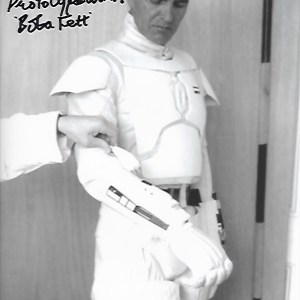 Alan Harris Signed Prototype Boba Fett 10x8
