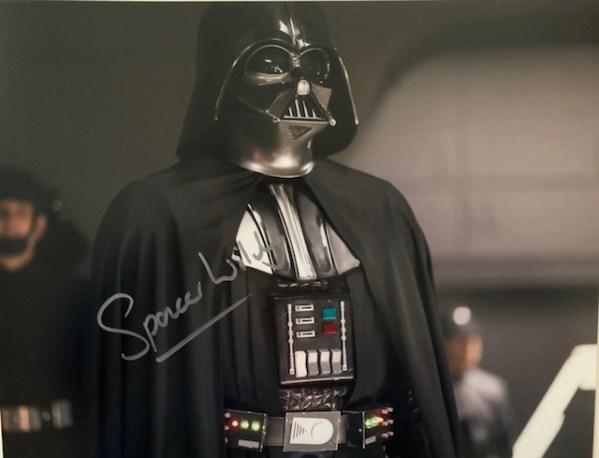 Spencer Wilding Signed Darth Vader Signed 11x14
