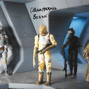 Alan Harris Signed Bossk 10x8