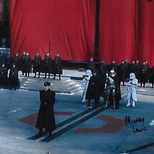 Mickey Lewis Signed TFA First Order 10x8