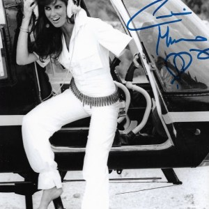 Caroline Munro James Bond Signed 10x8