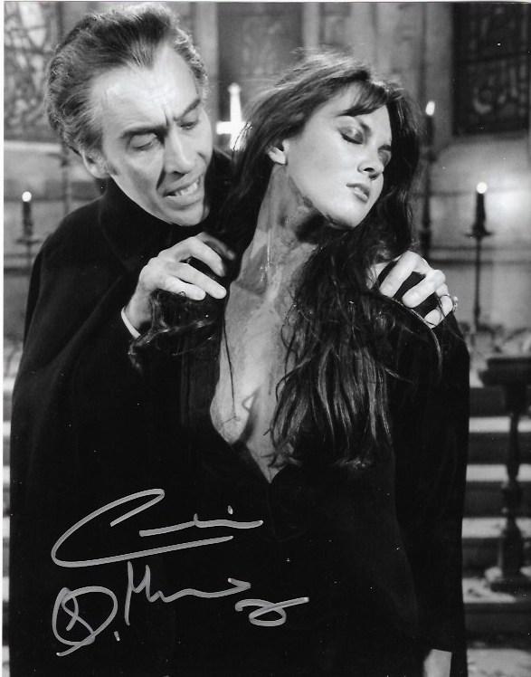 Caroline Munro Dracula AD Signed 10x8